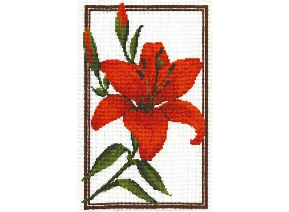 Купить Вышивка крестом, Набор для вышивания «Лилия», Палитра, 18x28 см, 01.002