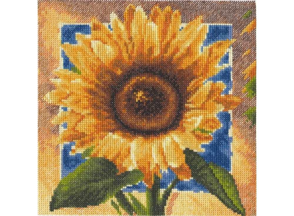 Купить Вышивка крестом, Набор для вышивания «Золотые лепестки», Палитра, 20x20 см, 01.006