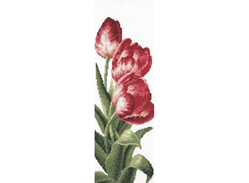 Купить Вышивка крестом, Набор для вышивания «Тюльпаны», Палитра, 13x35 см, 01.008