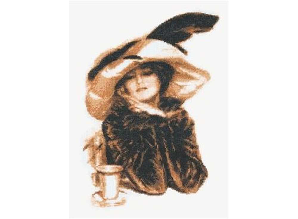 Купить Вышивка крестом, Набор для вышивания «За чашкой чая», Палитра, 20x29 см, 07.005