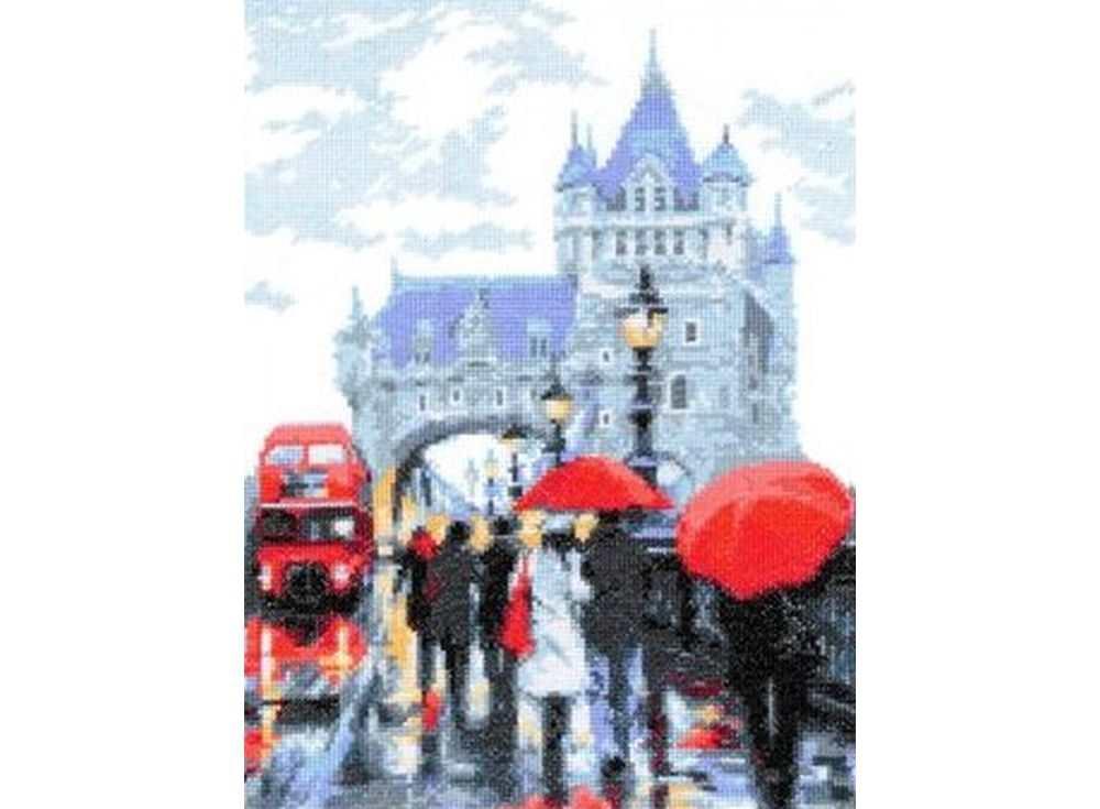 Купить Вышивка крестом, Набор для вышивания «Дождь», Палитра, 20x26 см, 08.010