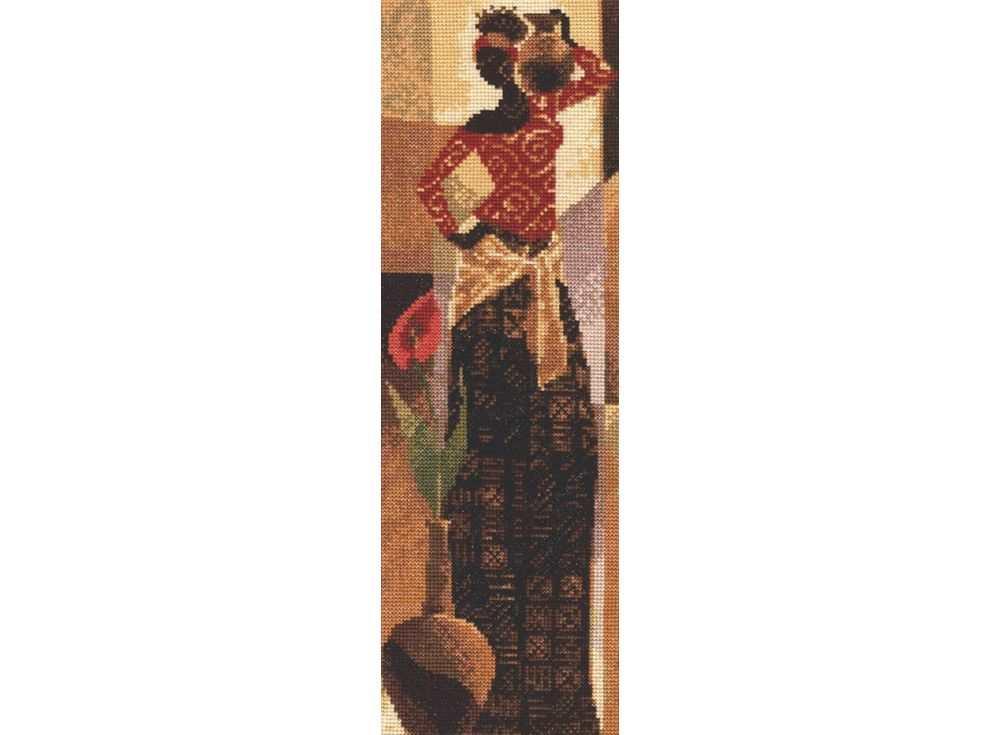 Купить Вышивка крестом, Набор для вышивания «Грация», Палитра, 12x36 см, 10.001
