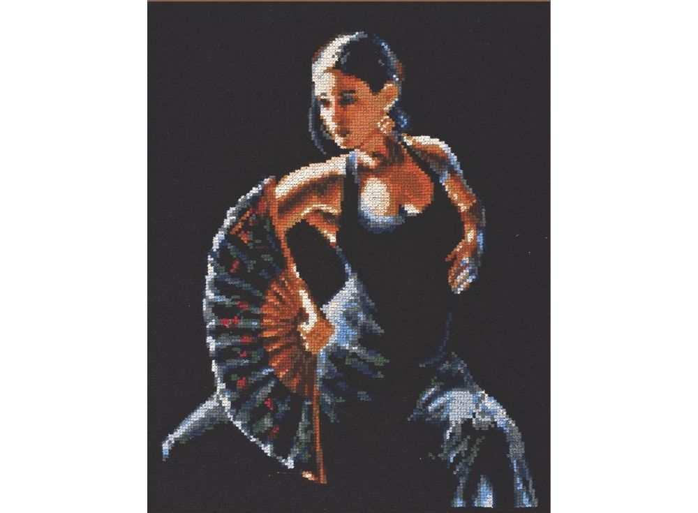 Купить Вышивка крестом, Набор для вышивания «Фламенко», Палитра, 24x30 см, 10.003
