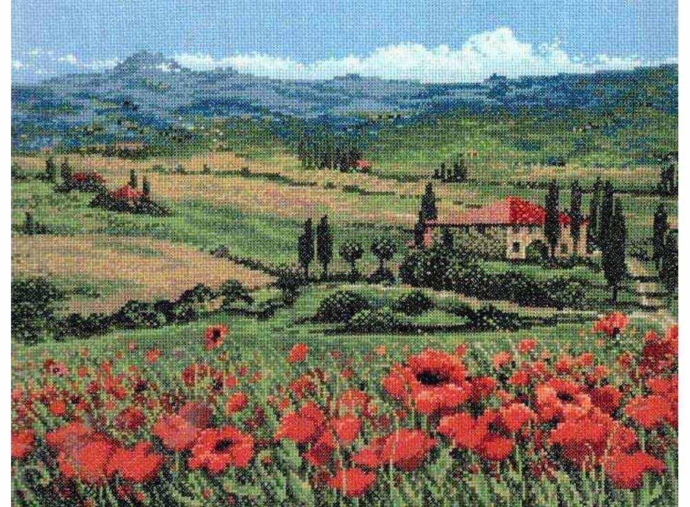 Купить Вышивка крестом, Набор для вышивания «Тоскана», Риолис (Premium), 40x30 см, 100/001