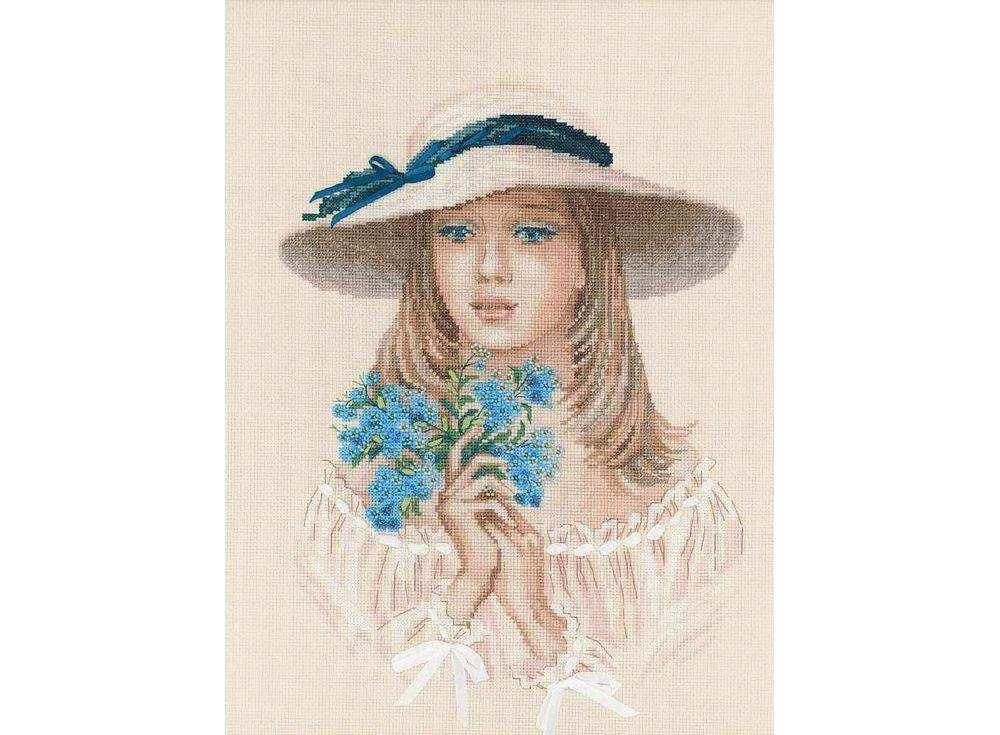 Купить Вышивка крестом, Набор для вышивания «Незабудки», Риолис (Premium), 30x40 см, 100/045