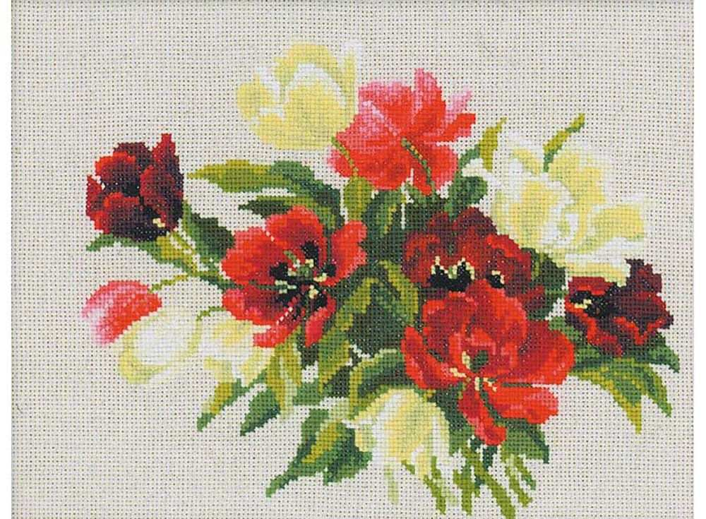 Купить Вышивка крестом, Набор для вышивания «Тюльпаны», Риолис (Сотвори Сама), 30x24 см, 1065