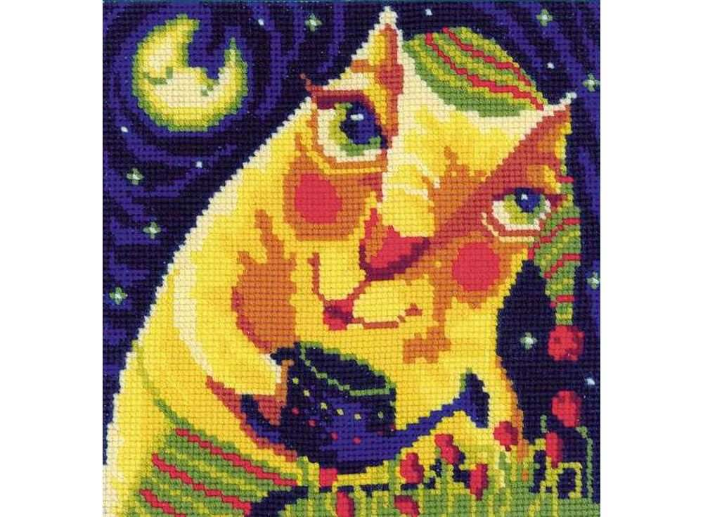 Купить Вышивка крестом, Набор для вышивания «Полуночные тюльпаны», Риолис (Сотвори Сама), 16x16 см, 1130