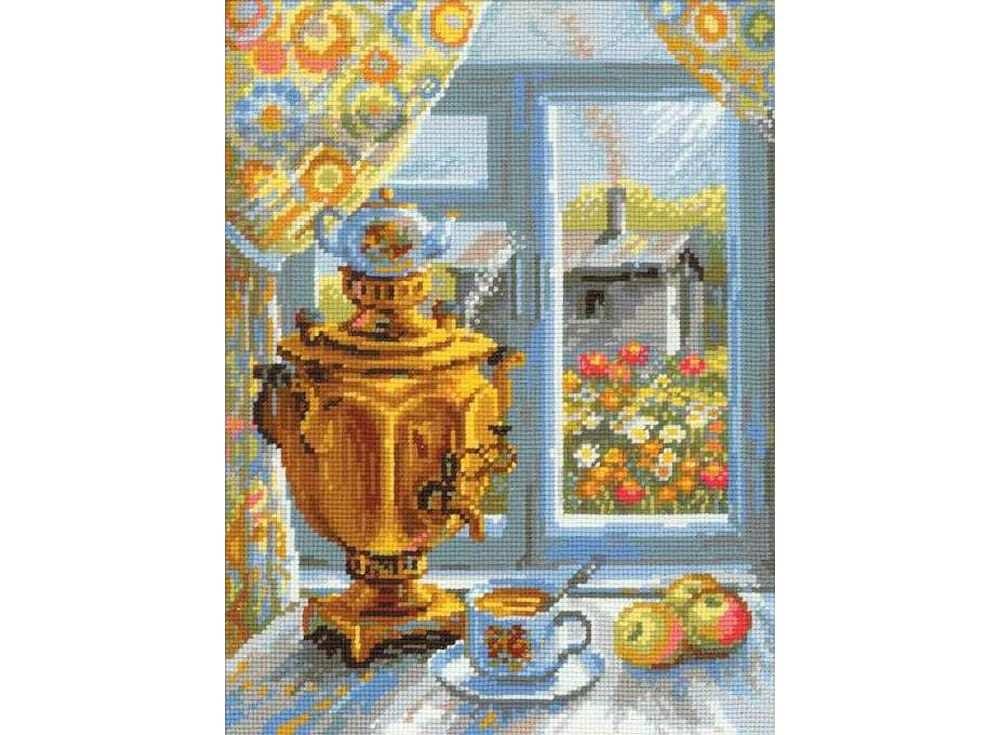 Купить Вышивка крестом, Набор для вышивания «Самовар», Риолис (Сотвори Сама), 30x40 см, 1145