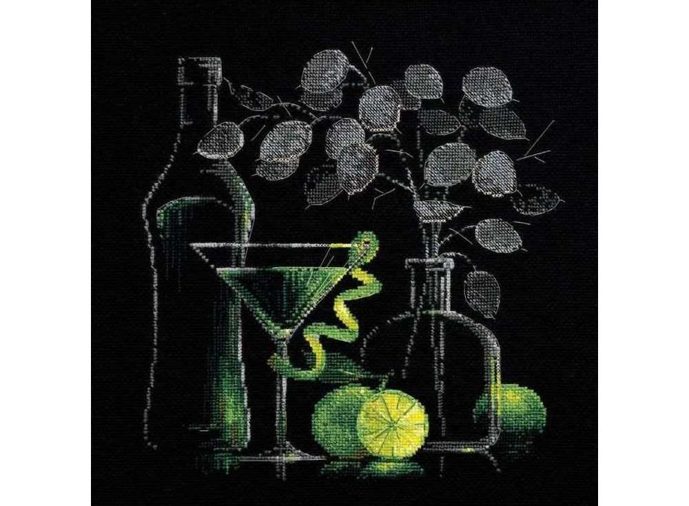 Купить Вышивка крестом, Набор для вышивания «Натюрморт с мартини», Риолис (Сотвори Сама), 30x30 см, 1240