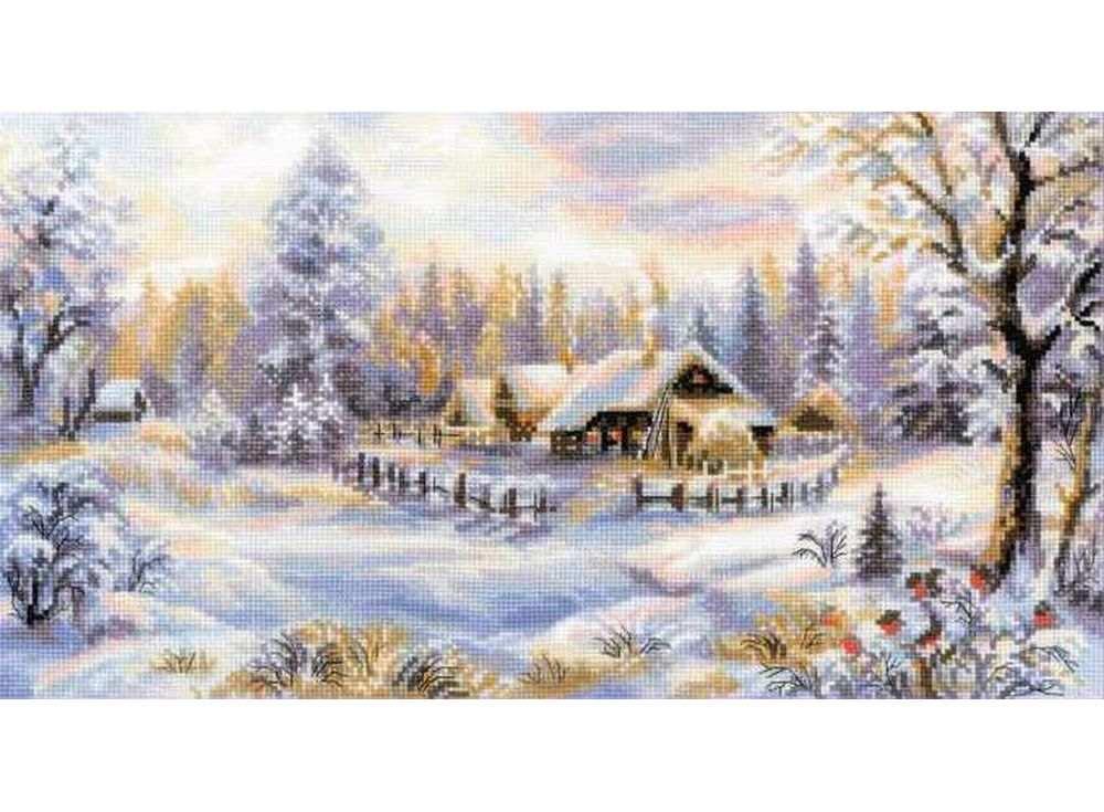 Купить Вышивка крестом, Набор для вышивания «Зимний вечер», Риолис (Сотвори Сама), 41x23 см, 1427
