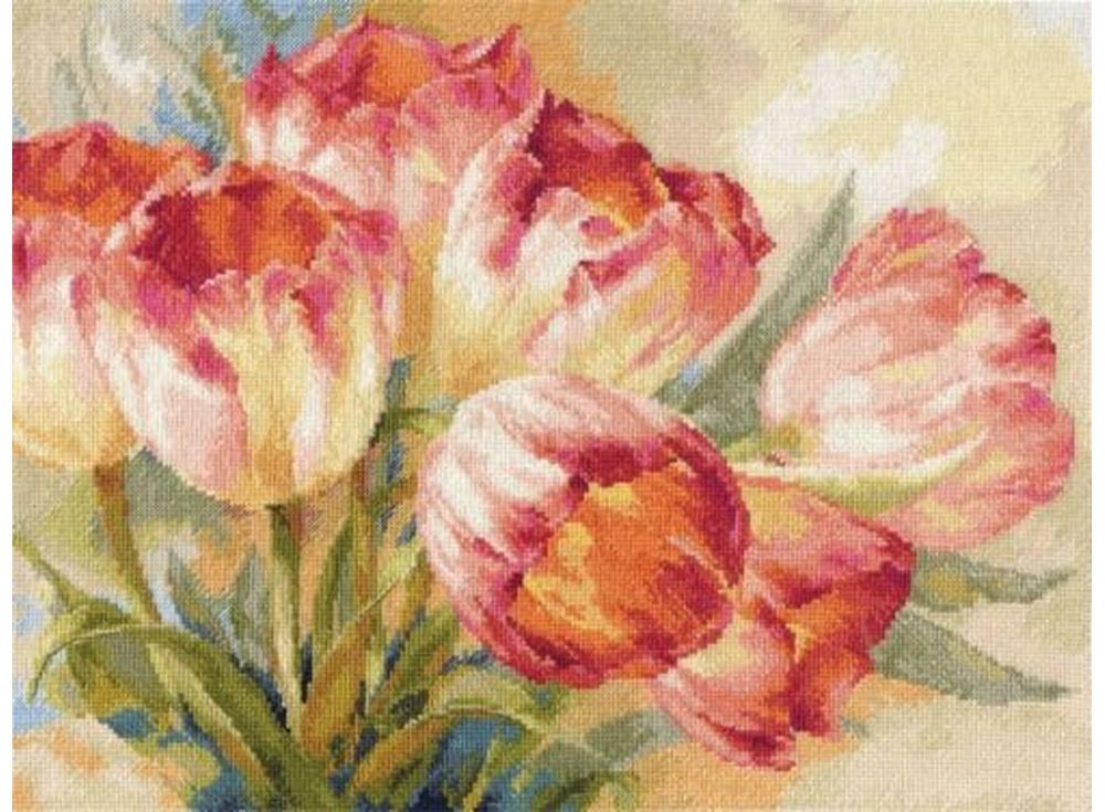 Купить Вышивка крестом, Набор для вышивания «Тюльпаны», Алиса, 40x30 см, 2-29