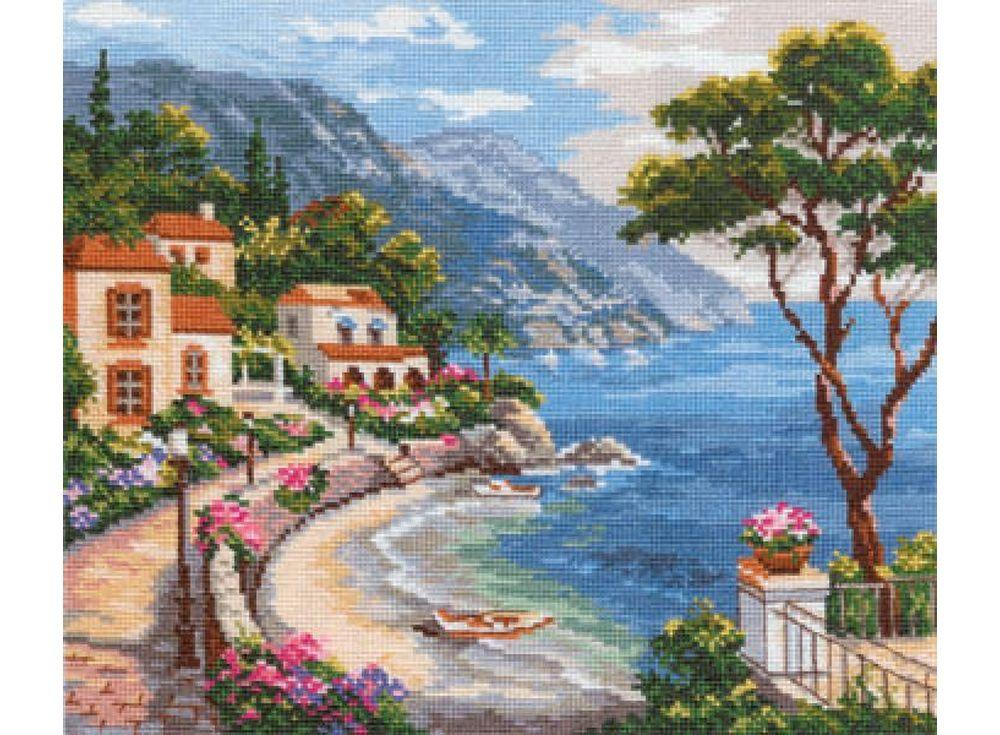 Купить Вышивка крестом, Набор для вышивания «Южный берег», Алиса, 32x25 см, 3-02