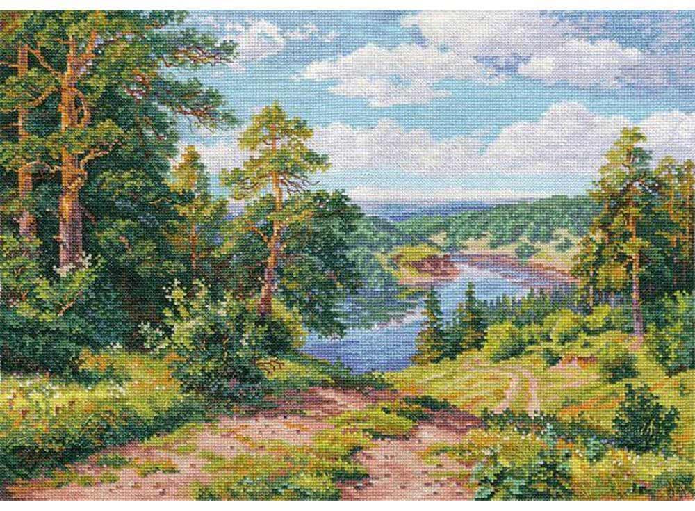 Купить Вышивка крестом, Набор для вышивания «Над рекой», Алиса, 40x30 см, 3-13