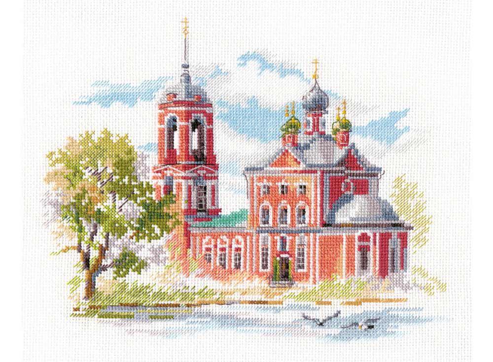 Купить Вышивка крестом, Набор для вышивания «Переславль-Залесский. Сорокосвятская церковь», Алиса, 22x18 см, 3-24