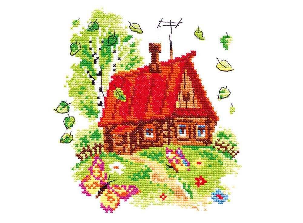 Купить Вышивка крестом, Набор для вышивания «Яркое лето», Чудесная игла, 15x17 см, 37-04