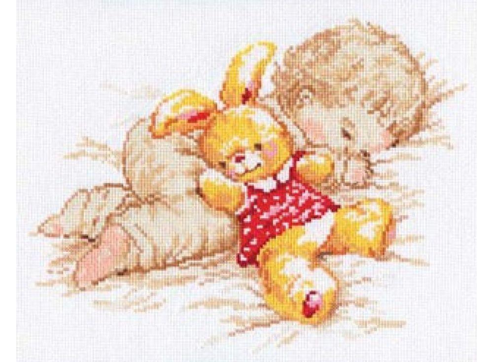 Купить Вышивка крестом, Набор для вышивания «Дочурка», Алиса, 25x19 см, 4-06