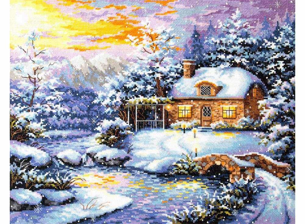 Купить Вышивка крестом, Набор для вышивания «Зимняя сказка», Чудесная игла, 40x32 см, 45-08