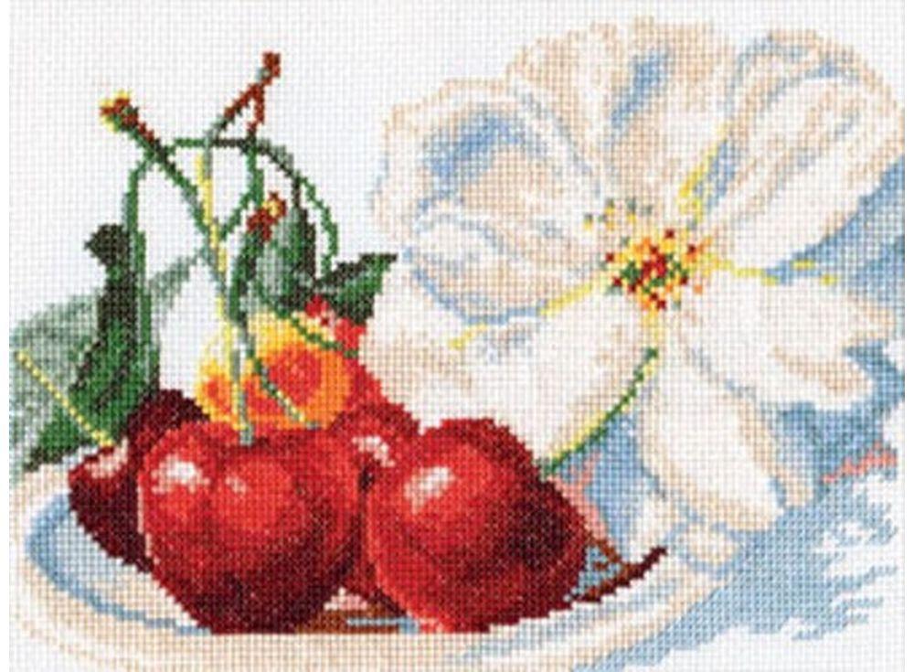 Купить Вышивка крестом, Набор для вышивания «Черешня», Алиса, 22x15 см, 5-03