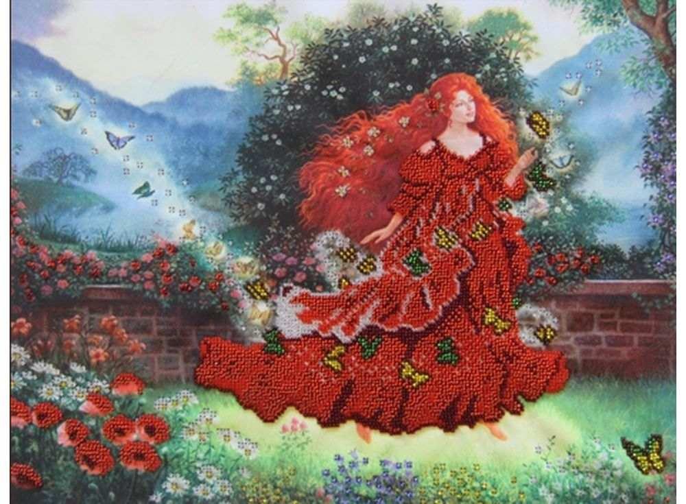 Купить Вышивка бисером, Набор вышивки бисером «Фея Лето», Астрея (Глурия), 40x30 см, 52031