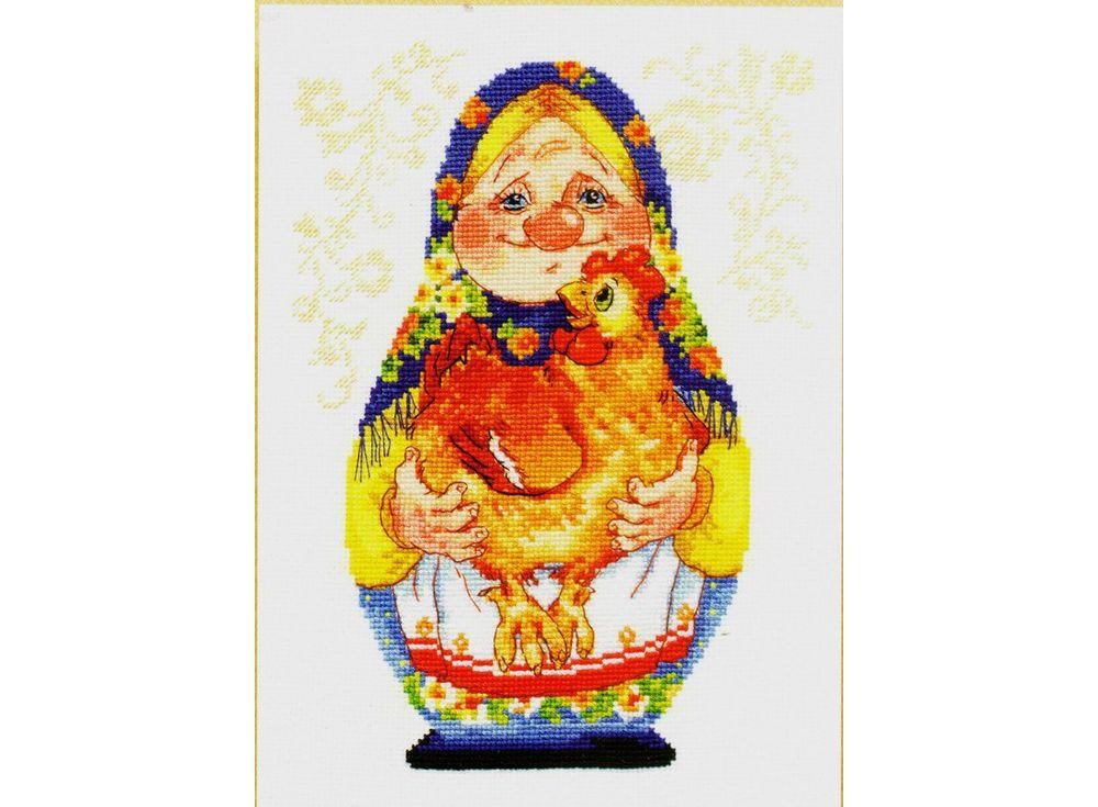 Купить Вышивка крестом, Набор для вышивания «Бабуля», Алиса, 16x22 см, 6-09