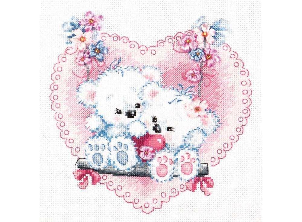 Купить Вышивка смешанной техникой, Набор для вышивания «Счастливая любовь», Чудесная игла, 18x18 см, 80-06