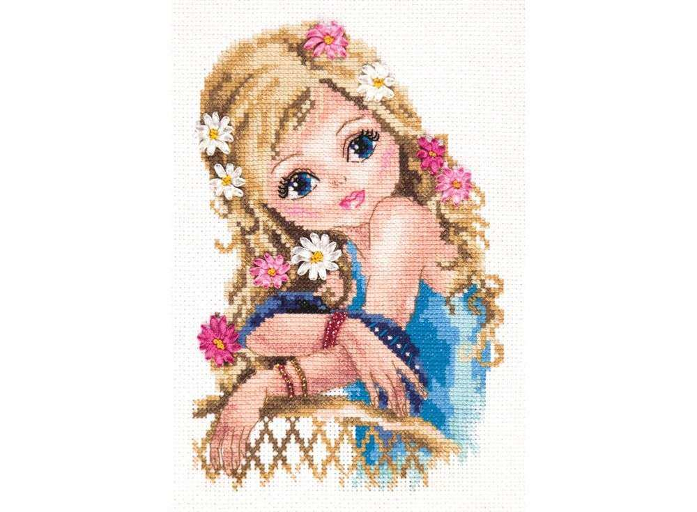 Купить Вышивка смешанной техникой, Набор для вышивания «Самая-самая», Чудесная игла, 13x20 см, 80-10