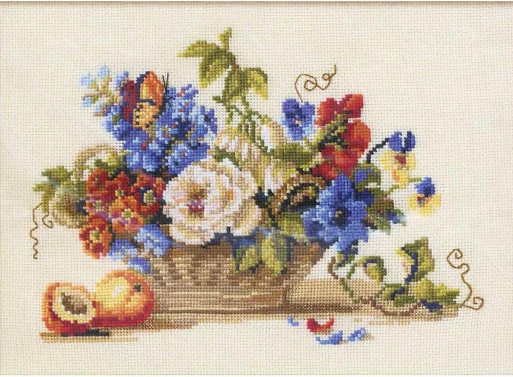 Купить Вышивка крестом, Набор для вышивания «Натюрморт с персиком», Риолис (Сотвори Сама), 30x24 см, 864