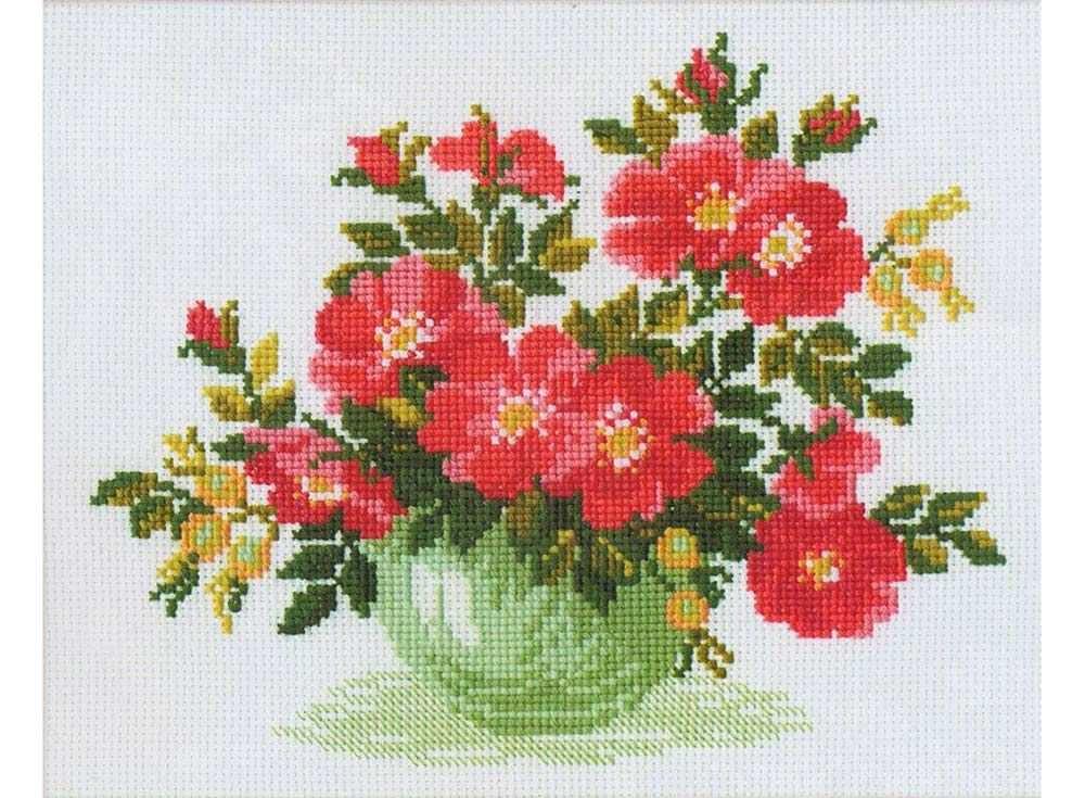 Купить Вышивка крестом, Набор для вышивания «Дикая роза», Риолис (Сотвори Сама), 30x24 см, 871