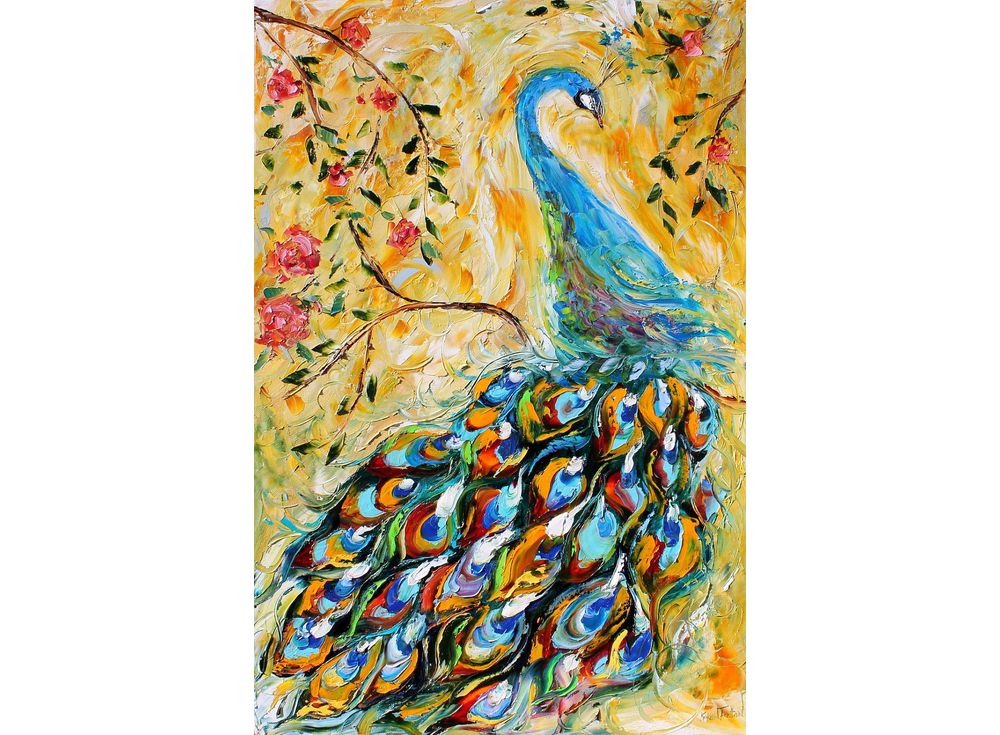 Купить Мозаика из пайеток «Павлин», Color KIT, 30x40 см, CME004