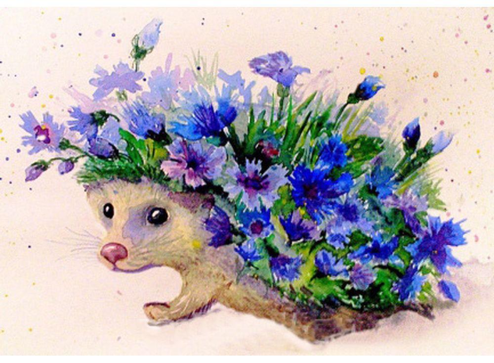 Купить Мозаика из пайеток «Цветочный еж», Color KIT, 30x40 см, CME005
