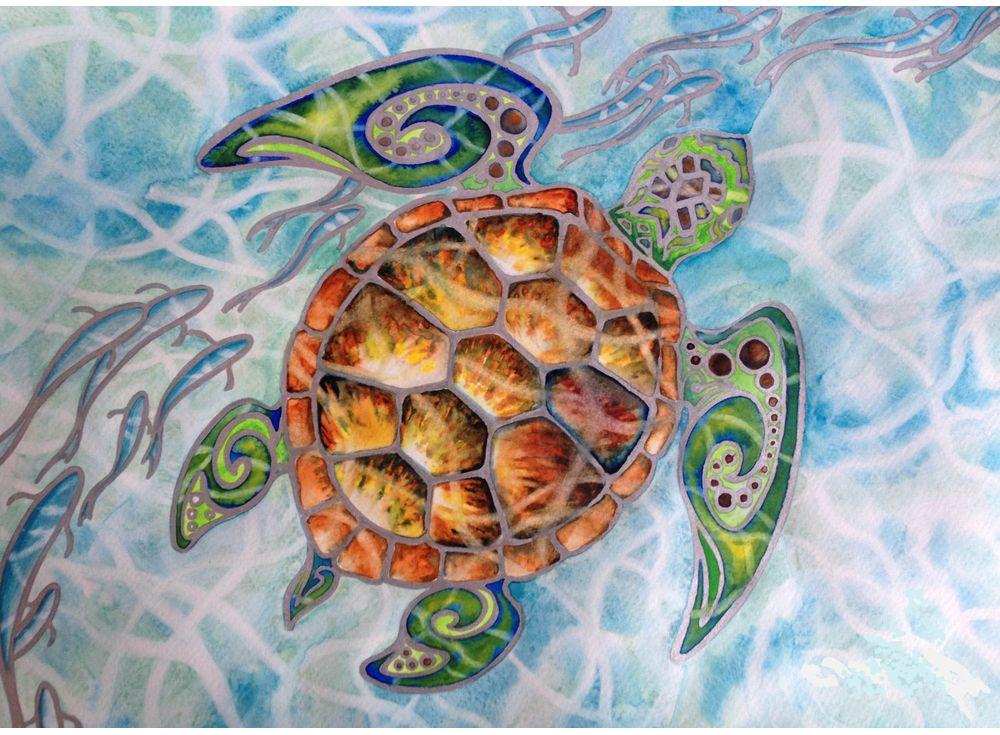 Купить Мозаика из пайеток «Подводный мир», Color KIT, 30x40 см, CME007