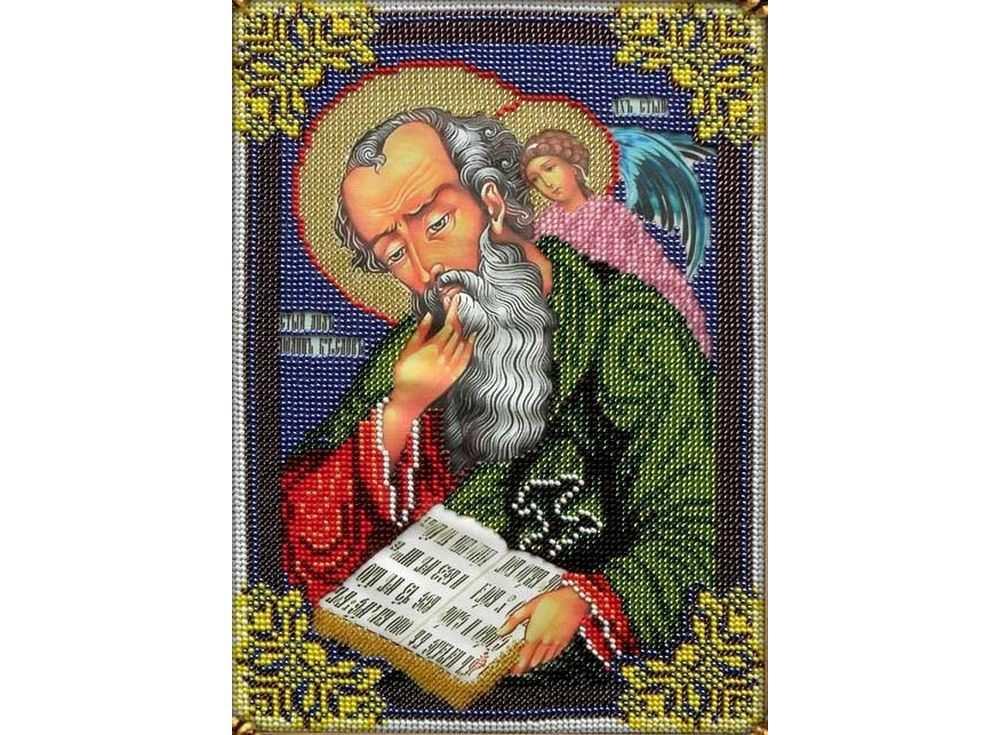 Купить Вышивка бисером, Набор вышивки бисером «Святой Иоанн Богослов», Вышиваем бисером, 19x26 см, L-114