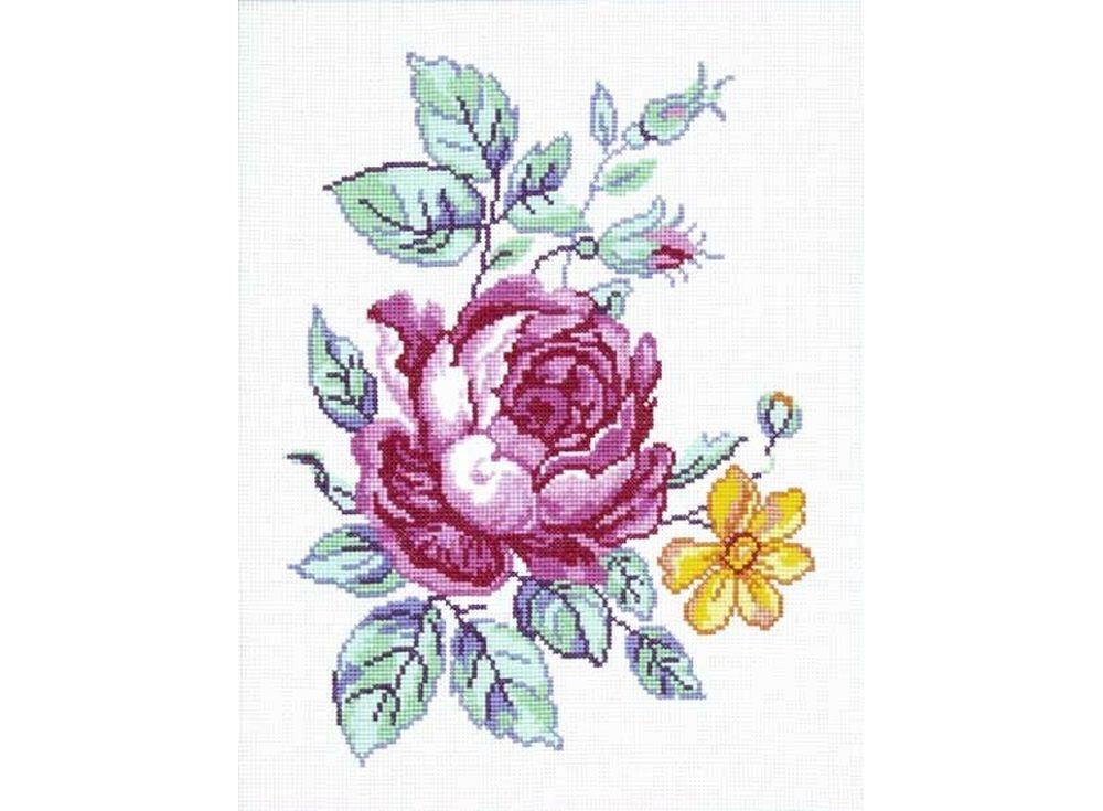 Купить Вышивка крестом, Набор для вышивания «Роза с нарциссом», Чарiвниця, 25x32 см, N-3006