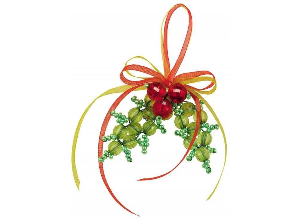 Купить Набор для бисероплетения «Игрушка Новогоднее украшение», Риолис (Сотвори Сама), 5x5 см, В201