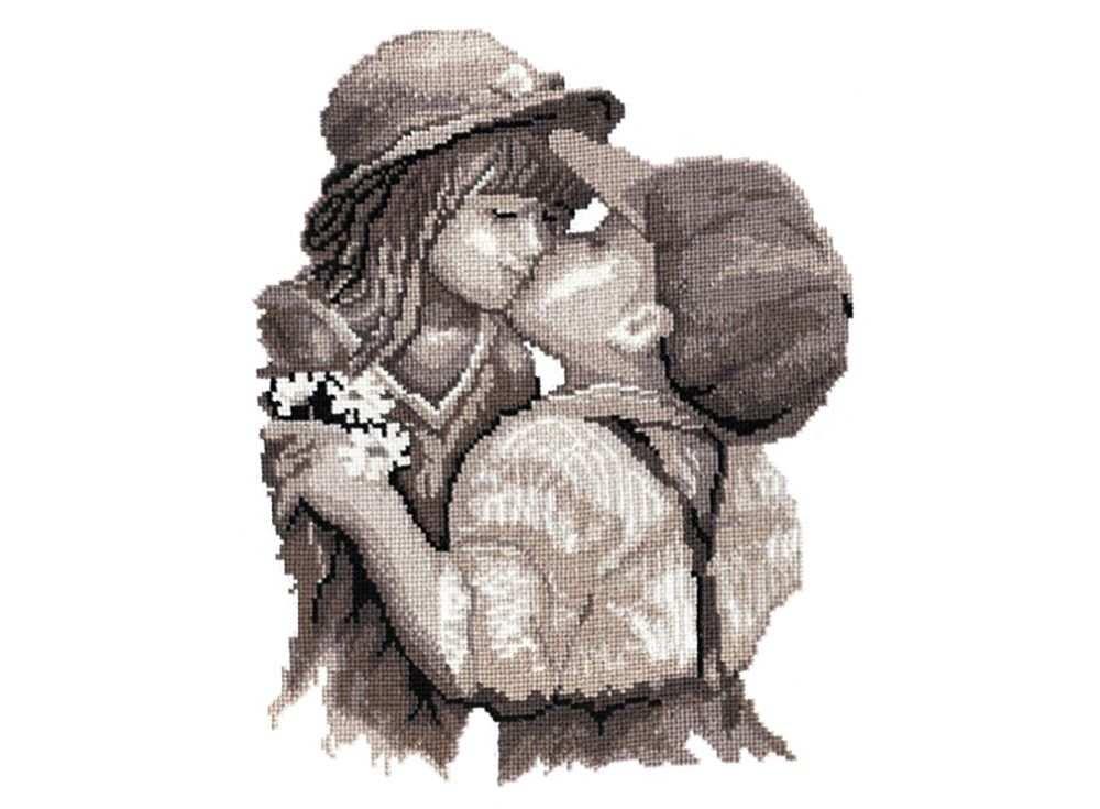 Купить Вышивка крестом, Набор для вышивания «Поцелуй», Овен, 30x32 см, 260
