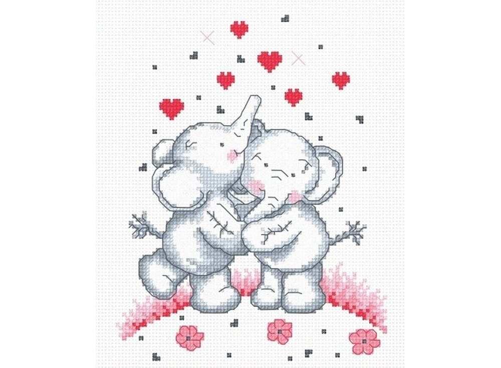 Купить Вышивка крестом, Набор для вышивания «Слонята», Овен, 18x15 см, 479