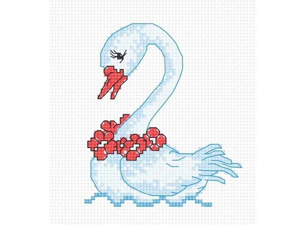 Купить Вышивка крестом, Набор для вышивания «Лебедь», Овен, 9x10 см, 579