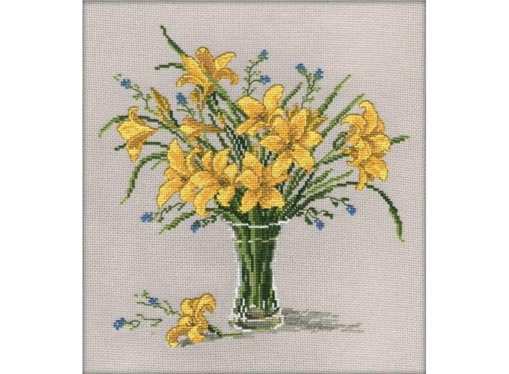 Купить Вышивка крестом, Набор для вышивания «Лилейник», Овен, 25x25 см, 601