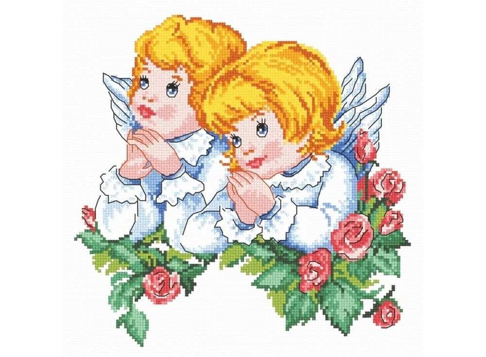 Купить Вышивка крестом, Набор для вышивания «Ангелочки», Овен, 23x23 см, 627
