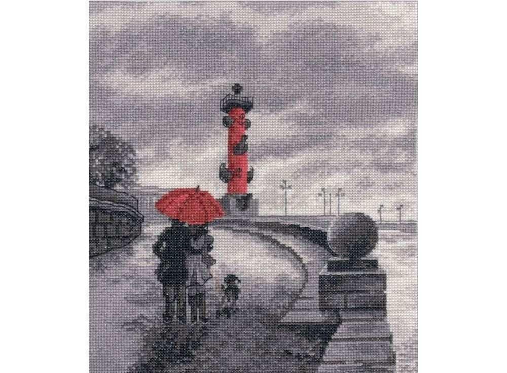 Купить Вышивка крестом, Набор для вышивания «Петербургская набережная», Овен, 22x25 см, 703
