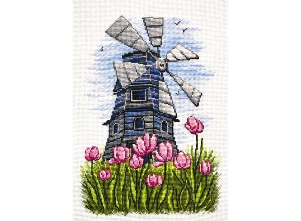 Купить Вышивка крестом, Набор для вышивания «Мельница», Овен, 21x29 см, 746