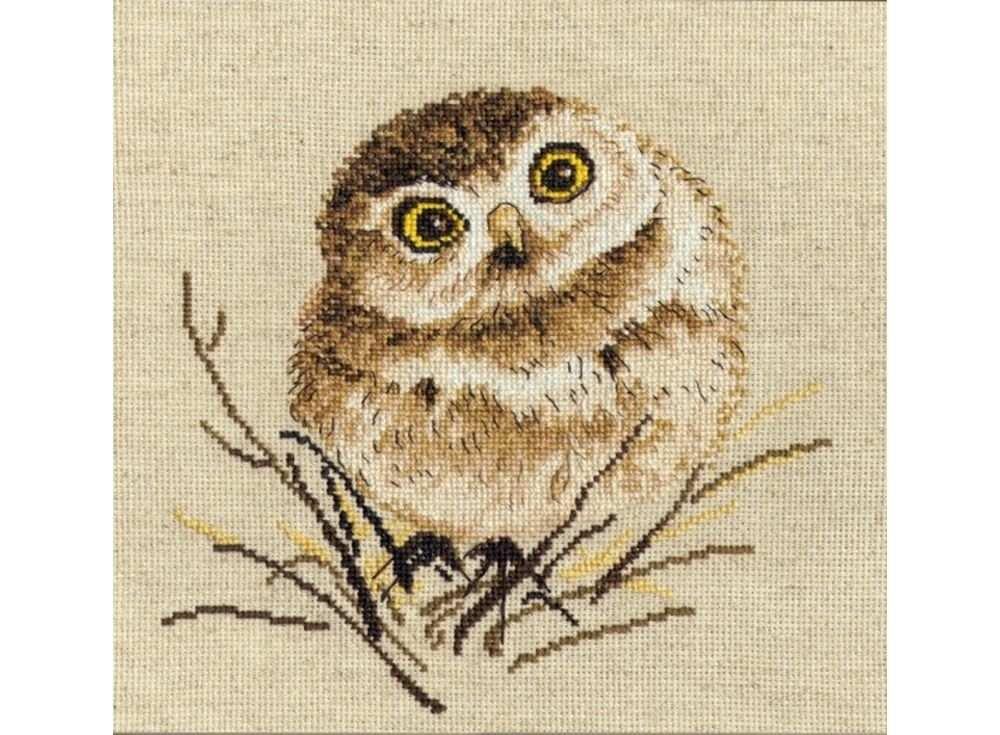 Купить Вышивка крестом, Набор для вышивания «Совенок», Овен, 20x20 см, 751