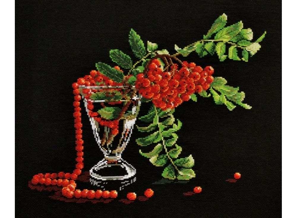 Вышивка крестом, Набор для вышивания «Рубиновые бусы», Овен, 35x30 см, 753  - купить со скидкой