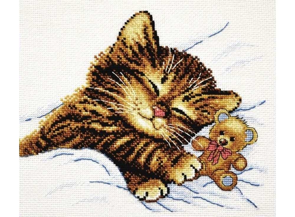 Купить Вышивка крестом, Набор для вышивания «Уютный сон», Овен, 22x18 см, 756