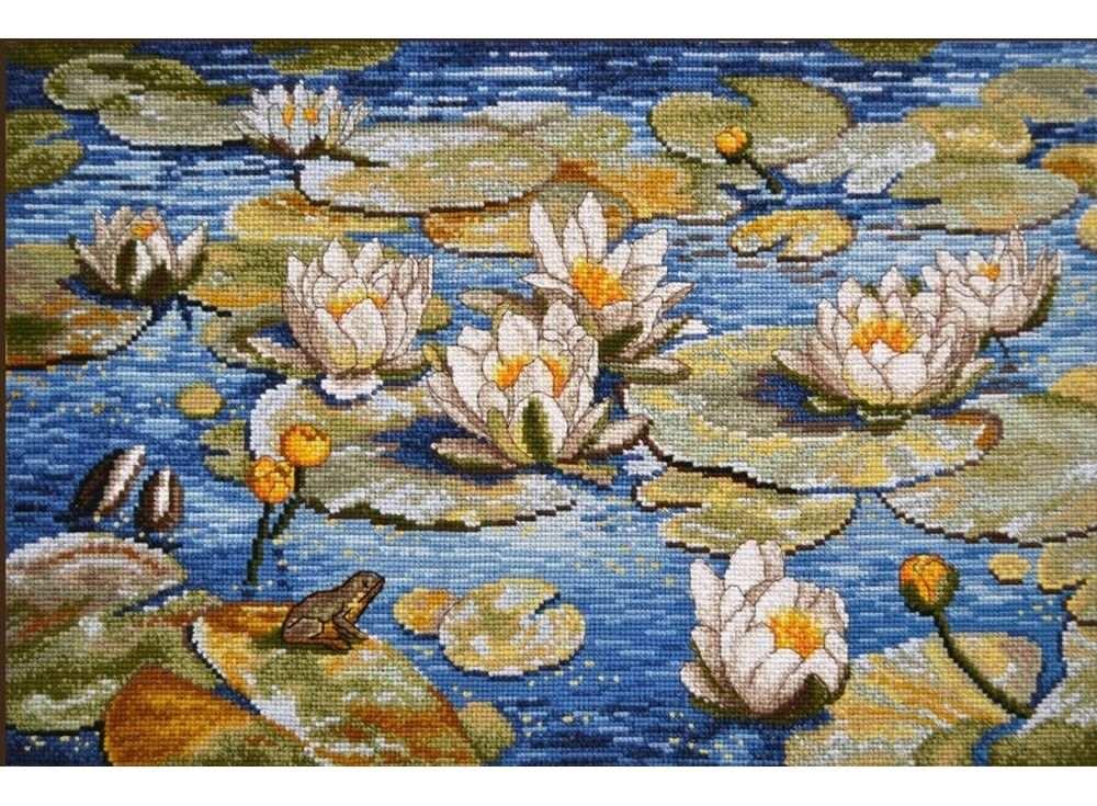 Купить Вышивка крестом, Набор для вышивания «Большие лилии», Овен, 40x26 см, 793