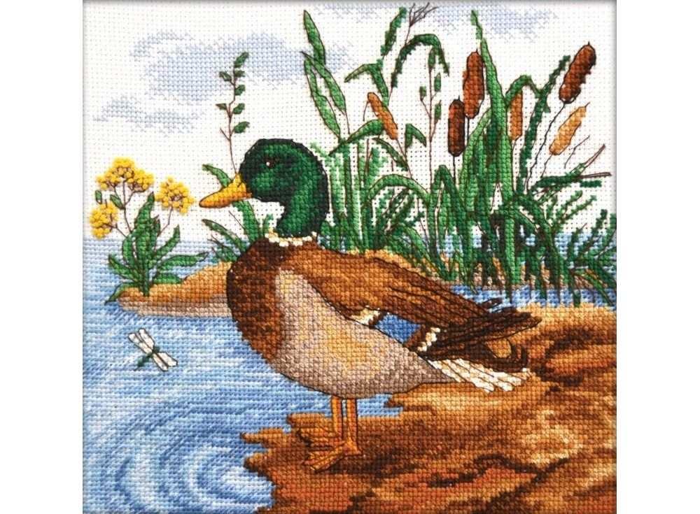 Купить Вышивка крестом, Набор для вышивания «Селезень», Овен, 21x20 см, 805