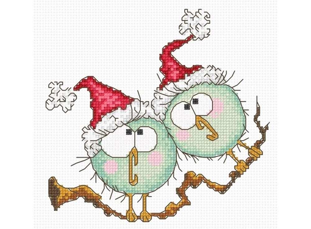 Купить Вышивка крестом, Набор для вышивания «Новогодний дуэт», Овен, 15x15 см, 822