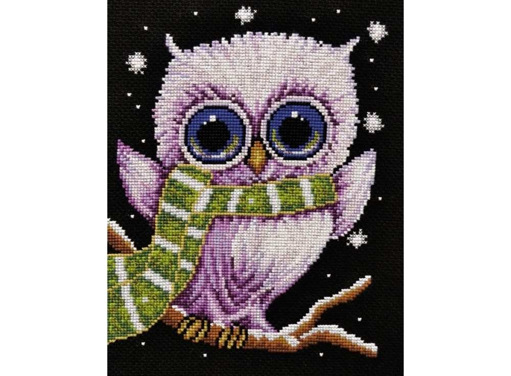Купить Вышивка крестом, Набор для вышивания «Совушка», Овен, 22x17 см, 861