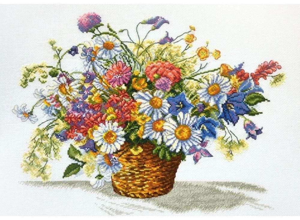 Купить Вышивка крестом, Набор для вышивания «Луговые цветы», Овен, 40x31 см, 862