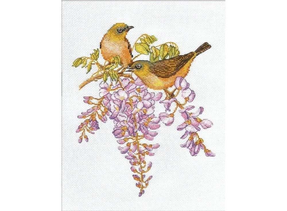 Купить Вышивка крестом, Набор для вышивания «Птички-невелички. Белоглазки», Овен, 19x24 см, 945